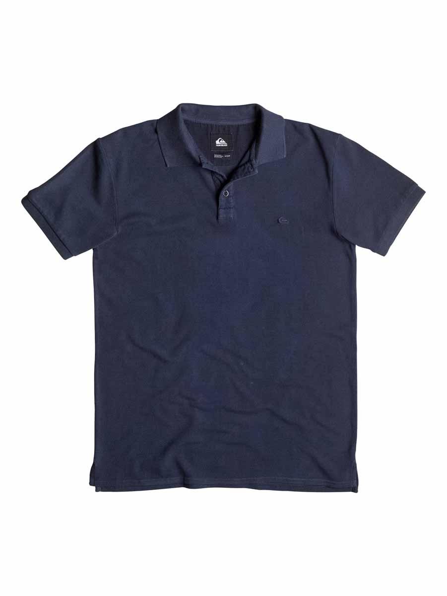 ПолоEQYKT03302-BKT0Стильная мужская футболка-поло Quiksilver выполненная из высококачественного хлопка, обладает высокой теплопроводностью, воздухопроницаемостью и гигроскопичностью, позволяет коже дышать. Модель с короткими рукавами и отложным воротником. Футболка-поло застегивается на две пуговицы. Воротник и низ рукавов выполнены из трикотажной резинки. Модель оформлена на груди небольшой вышивкой.