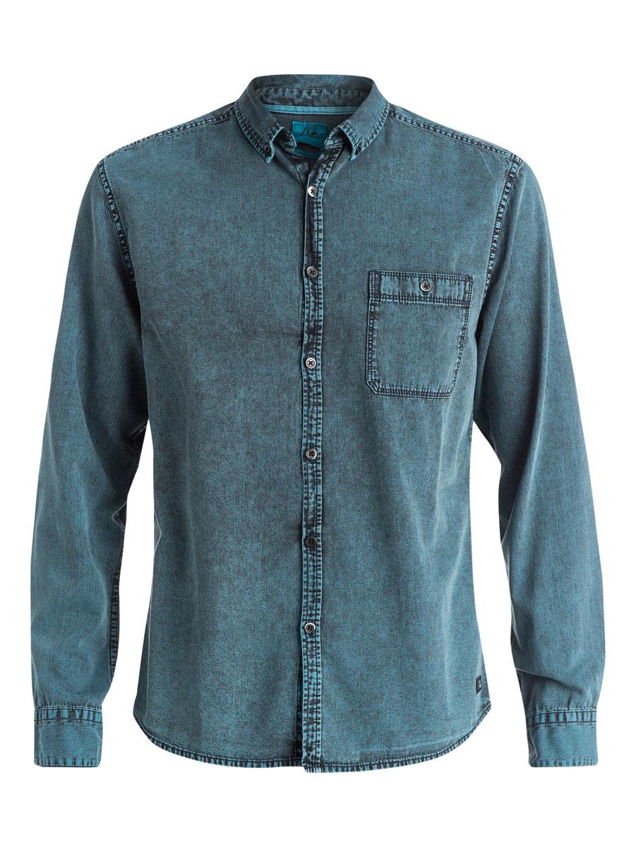 РубашкаEQYWT03311-BKT0Мужская рубашка Quiksilver выполнена из натурального хлопка. Модель с отложным воротником и длинными рукавами застегивается на пуговицы по всей длине. Низ рукавов дополнен манжетами на пуговицах. Спереди расположен накладной карман на пуговице. Спинка модели немного удлинена. Рубашка оформлена фирменной нашивкой.