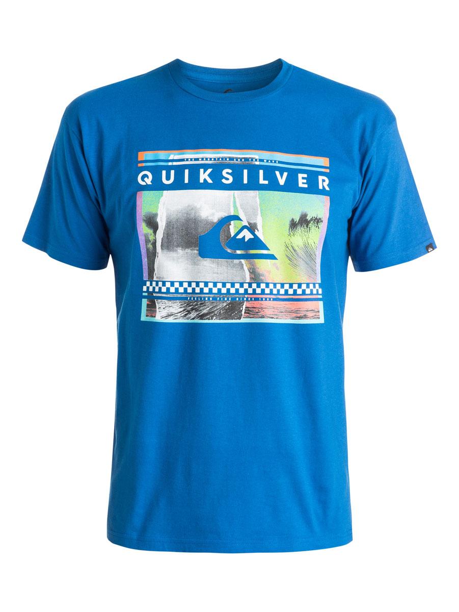 ФутболкаEQYZT03628-BQS0Мужская футболка Quiksilver выполнена из натурального хлопка. Модель с круглым вырезом горловины и короткими рукавами оформлена ярким принтом. Горловина дополнена трикотажной резинкой.