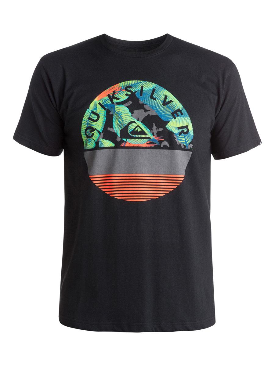 EQYZT03629-KVJ0Мужская футболка Quiksilver выполнена из натурального хлопка. Модель с круглым вырезом горловины и короткими рукавами оформлена оригинальным ярким принтом.