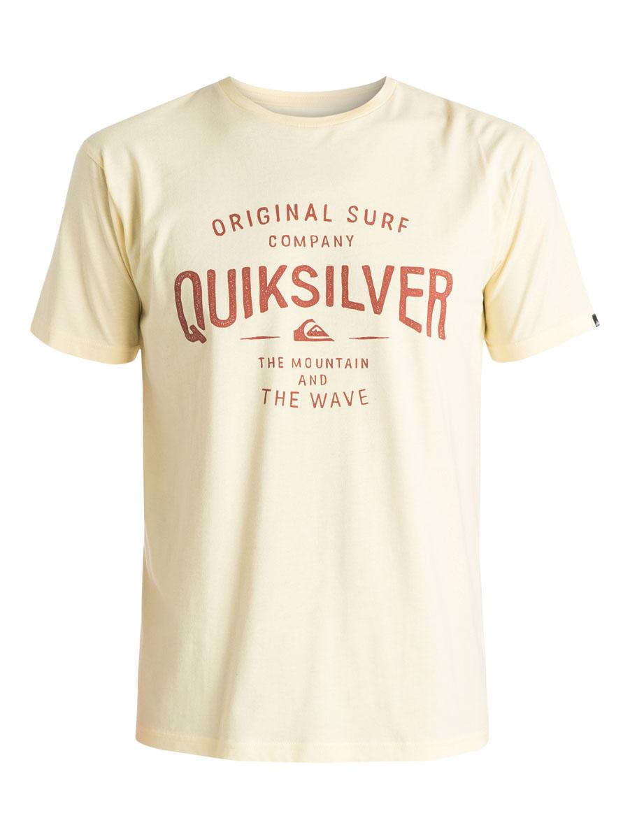 ФутболкаEQYZT03640-BYJ0Мужская футболка Quiksilver выполнена из натурального хлопка. Модель с круглым вырезом горловины и короткими рукавами оформлена оригинальным принтом с надписями. Горловина дополнена трикотажной резинкой.