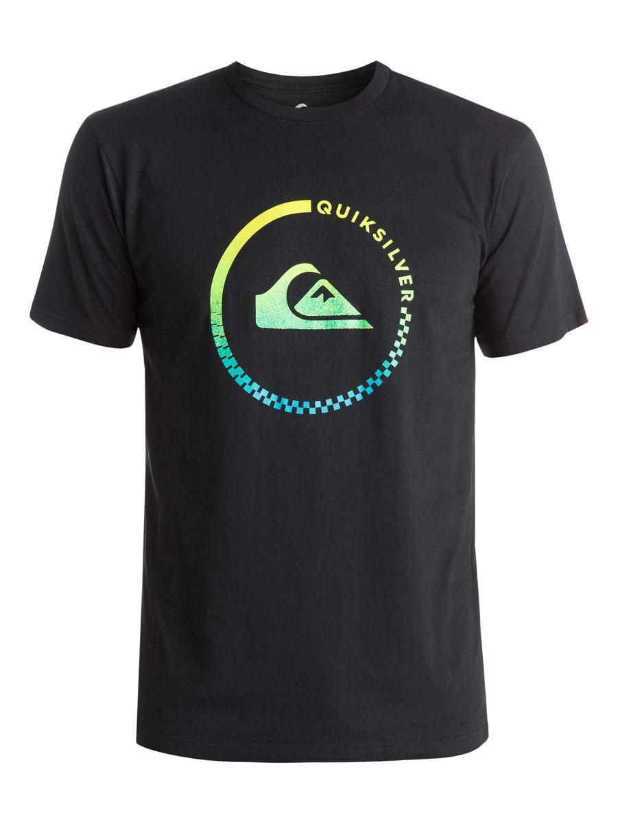 ФутболкаEQYZT03676-BPW0Стильная мужская футболка Quiksilver, выполненная из натурального хлопка. Модель прямого кроя с удобным округлым вырезом горловины и короткими рукавами, спереди оформлена логотипом бренда.