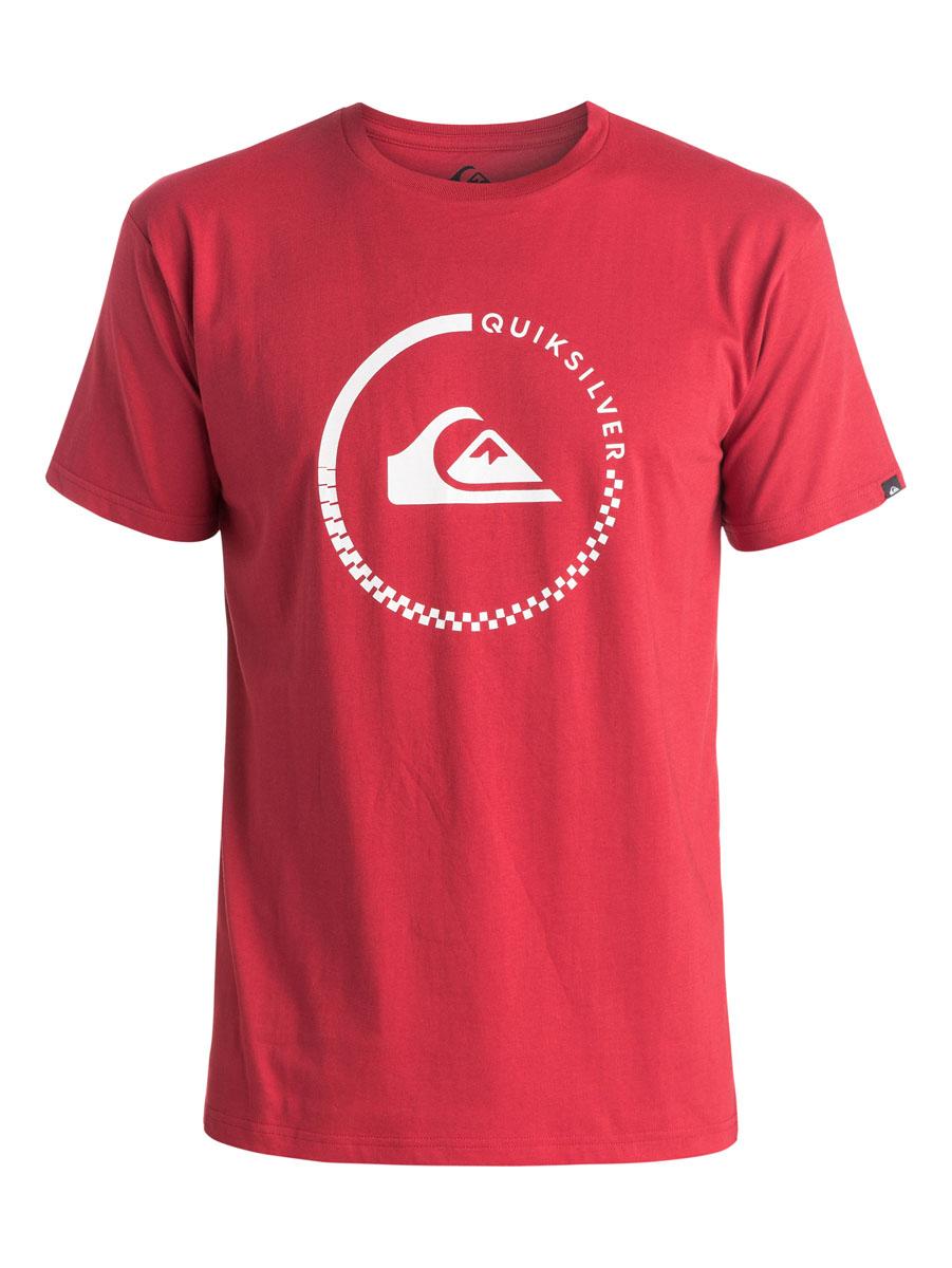 EQYZT03676-BPW0Стильная мужская футболка Quiksilver, выполненная из натурального хлопка. Модель прямого кроя с удобным округлым вырезом горловины и короткими рукавами, спереди оформлена логотипом бренда.
