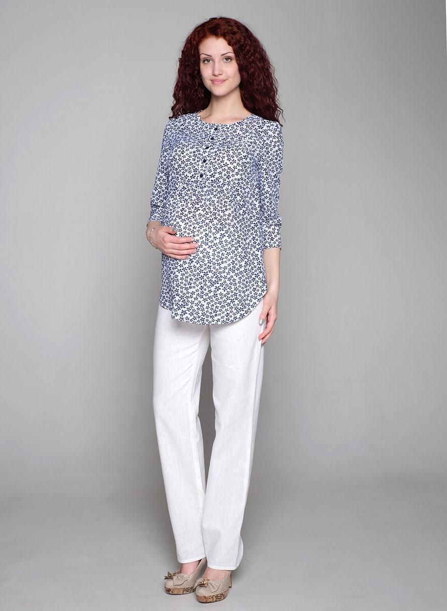 Брюки45532Классические прямые брюки из натурального полотна. Эластичная трикотажная вставка в области животика обеспечит комфорт в ожидании малыша. Фэст — одежда по ашей фигуре.