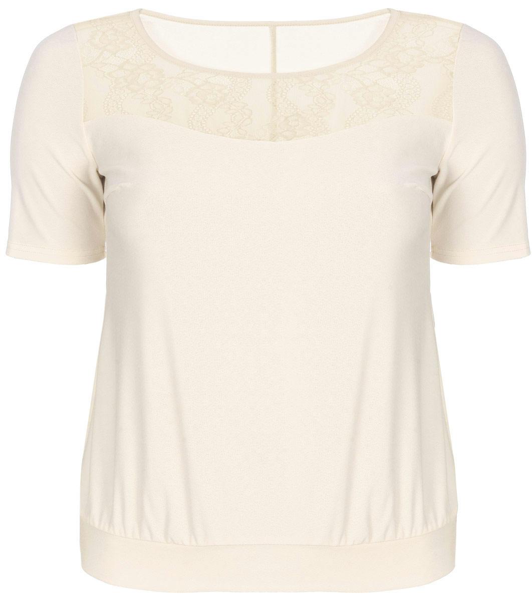 915мСтильная женская блузка Milana Style, выполненная из полиэстера с добавлением вискозы и лайкры, подчеркнет ваш уникальный стиль и поможет создать женственный образ. Модель с короткими рукавами и круглым вырезом горловины. Низ изделия обработан широкой манжетой. Спереди блуза дополнена ажурной вставкой. Такая блузка будет дарить вам комфорт в течение всего дня и послужит замечательным дополнением к вашему гардеробу.