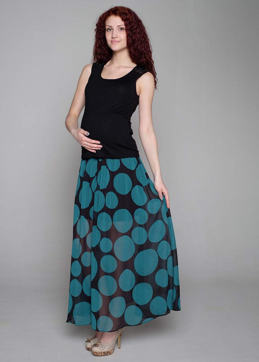Юбка91518Легкая юбка в пол из шифона на подкладке благодаря эластичному поясу обеспечит комфорт для животика в период ожидания малыша. Фэст — одежда по вашей фигуре.