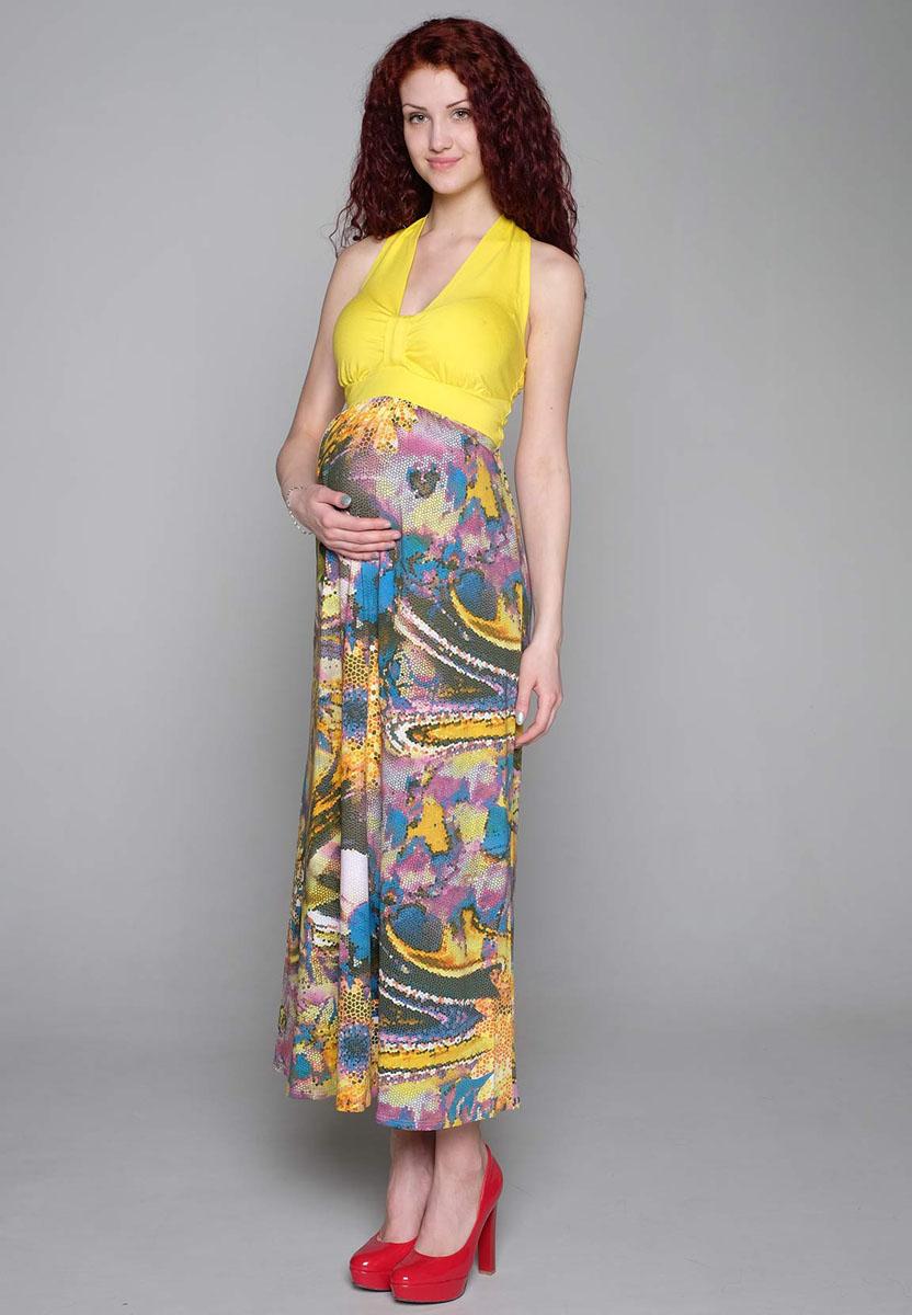 129528Летний сарафан для будущих мамочек с открытой спинкой и завязками, обеспечит комфорт в жаркую погоду. Фэст — одежда по вашей фигуре.