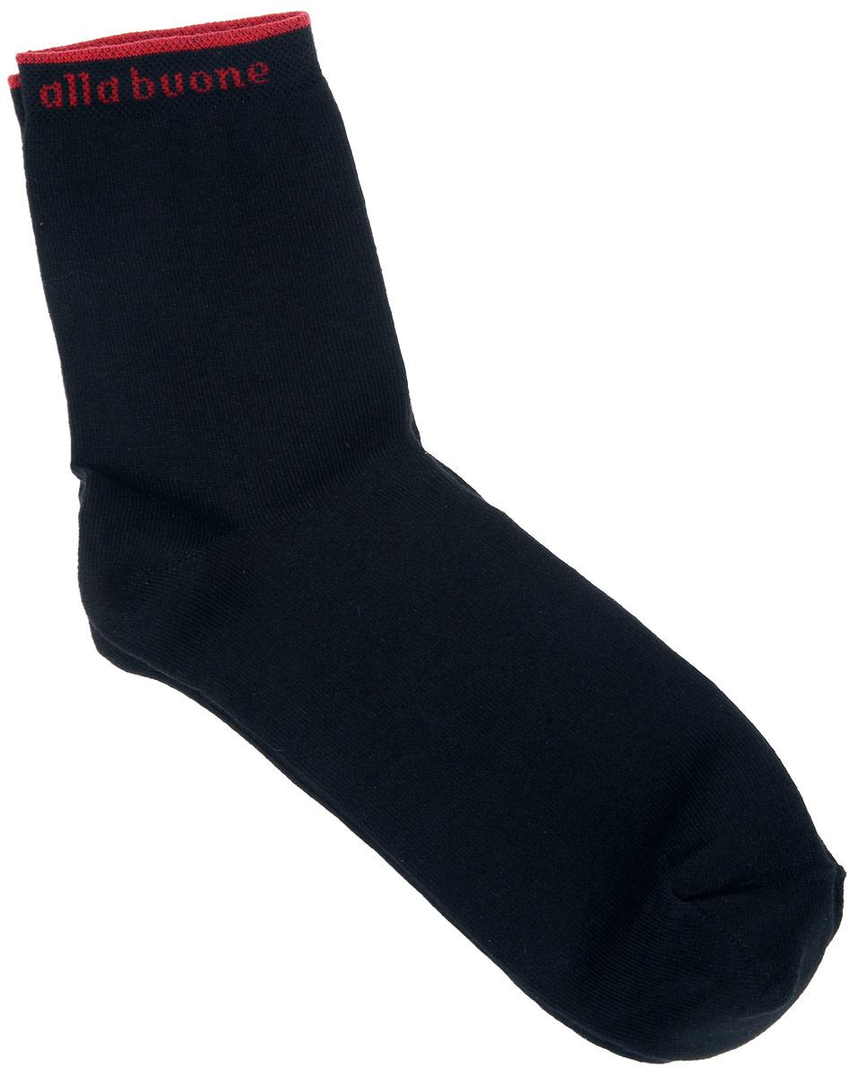 Носки женские. CD010CD010Удобные носки Alla Buone, изготовленные из высококачественного комбинированного материала, очень мягкие и приятные на ощупь, позволяют коже дышать. Эластичная резинка плотно облегает ногу, не сдавливая ее, обеспечивая комфорт и удобство. Носки с паголенком классической длины. Резинка оформлена контрастной надписью с логотипом фирмы. Практичные и комфортные носки великолепно подойдут к любой вашей обуви.