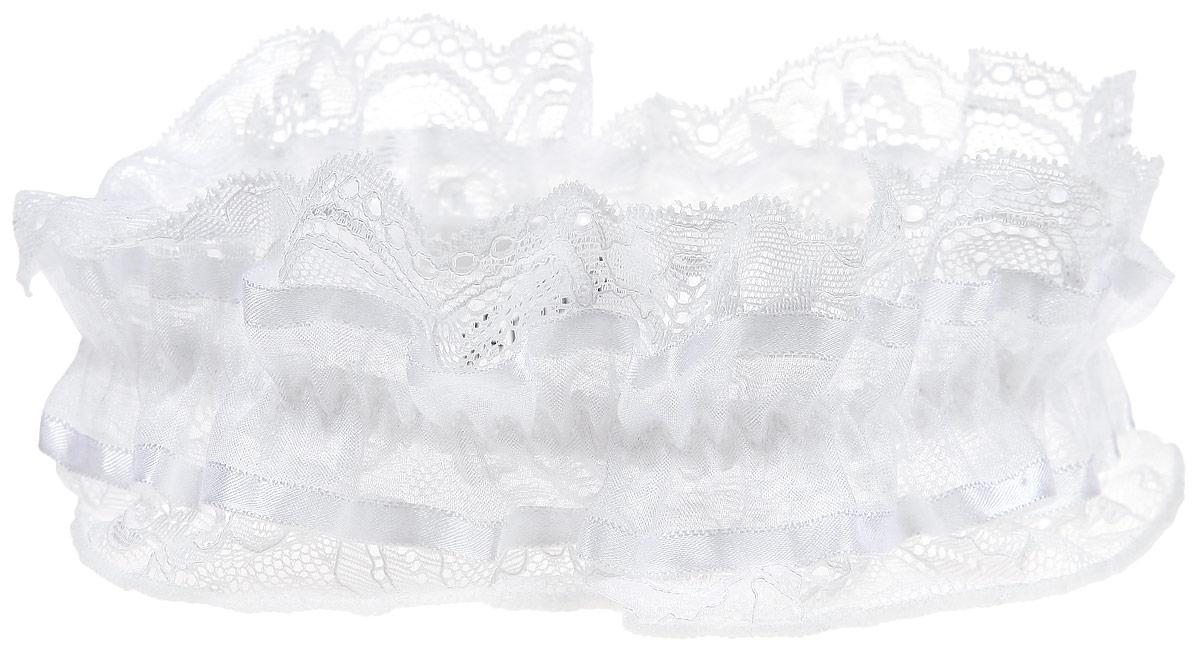 1291Подвязка Luce Del Sole - соблазнительный и нежный аксессуар женского белья и обязательный атрибут свадебного гардероба. Воздушная подвязка на эластичной резинке выполнена из высококачественного материала и кружева, которое обволакивает, словно легкая музыка. Необычный дизайн объединяет в себе женственность цветочного узора, изысканные геометрические мотивы, легкий блеск и мягкость невесомого материала.