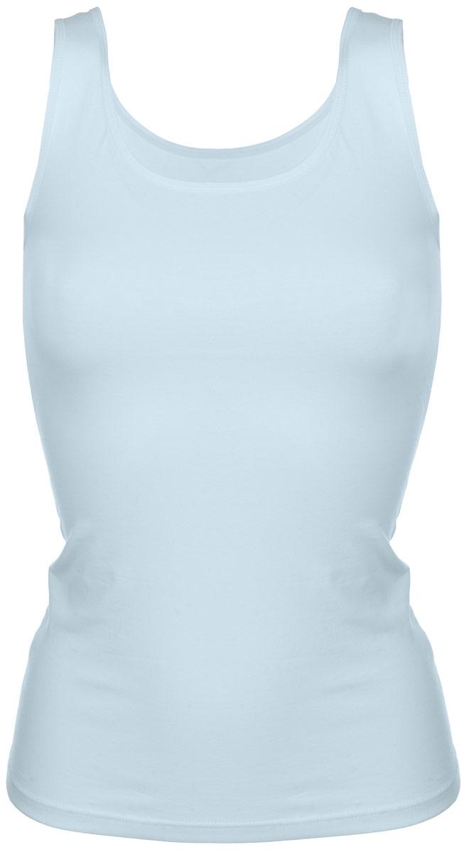 Майка7028Женская майка Alla Buone Liscio, выполненная из эластичного хлопка, идеально подойдет для повседневной носки. Материал изделия мягкий, тактильно приятный, не сковывает движения и позволяет коже дышать. Майка с круглым вырезом горловины и широкими бретелями имеет слегка приталенный силуэт. Вырез горловины и проймы оформлены мягкой эластичной бейкой. Изделие дополнено фирменным логотипом, вшитым в боковой шов. Такая модель будет дарить вам комфорт в течение всего дня и станет отличным дополнением к вашему гардеробу.