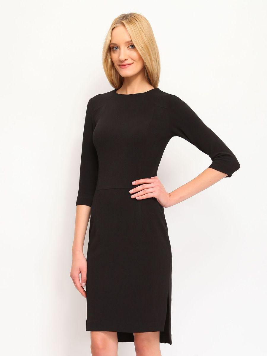 SSU1428CAОчаровательное платье Top Secret, выполненное из вискозы с добавлением полиамида и эластана, идеально впишется в ваш гардероб. Модель с рукавами 3/4 и круглым вырезом горловины застегивается по спинке на застежку-молнию. Изысканное платье-миди с удлиненной спинкой, дополненное небольшими разрезами в боковых швах, создаст обворожительный неповторимый образ. Это модное и удобное платье станет превосходным дополнением к вашему гардеробу. Модель подарит вам удобство и поможет вам подчеркнуть вкус и неповторимый стиль.