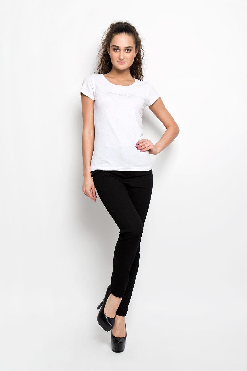 L-SP-2005_Black RegularСтильные женские брюки Moodo станут отличным дополнением к вашему гардеробу. Изготовленные из эластичного хлопка, они тактильно приятные, не сковывают движения и позволяют коже дышать. Брюки-слим на поясе застегиваются на металлическую пуговицу и имеют ширинку на застежке-молнии, а также шлевки для ремня. Талия модели завышена. Спереди расположены два втачных кармана и один маленький накладной, сзади - два накладных кармана. Изделие украшено металлическими клепками. Такая модель подарит вам комфорт в течение всего дня.
