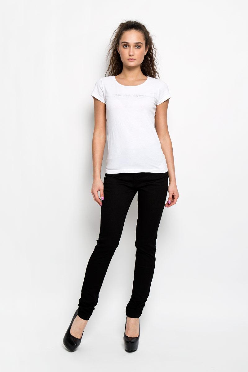 L-SP-2005_Black LongСтильные женские брюки Moodo станут отличным дополнением к вашему гардеробу. Изготовленные из эластичного хлопка, они тактильно приятные, не сковывают движения и позволяют коже дышать. Брюки-слим на поясе застегиваются на металлическую пуговицу и имеют ширинку на застежке-молнии, а также шлевки для ремня. Талия модели завышена. Спереди расположены два втачных кармана и один маленький накладной, сзади - два накладных кармана. Изделие украшено металлическими клепками. Такая модель подарит вам комфорт в течение всего дня.