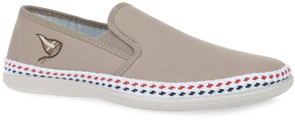 Слипоны мужские. ER18_567_BEIGEER18_567_BEIGEСтильные слипоны от El Tempo придутся вам по душе. Модель выполнена из текстиля и оформлена в области подъема эластичными вставками для лучшего прилегания обуви к ноге, сбоку - оригинальной вышивкой, по ранту - текстильной плетеной нитью. Внутренняя часть, изготовленная полностью из текстиля, предотвратит натирание и гарантирует уют. Рельефная поверхность подошвы обеспечит отличное сцепление с различными поверхностями. Модные слипоны - отличный вариант на каждый день.