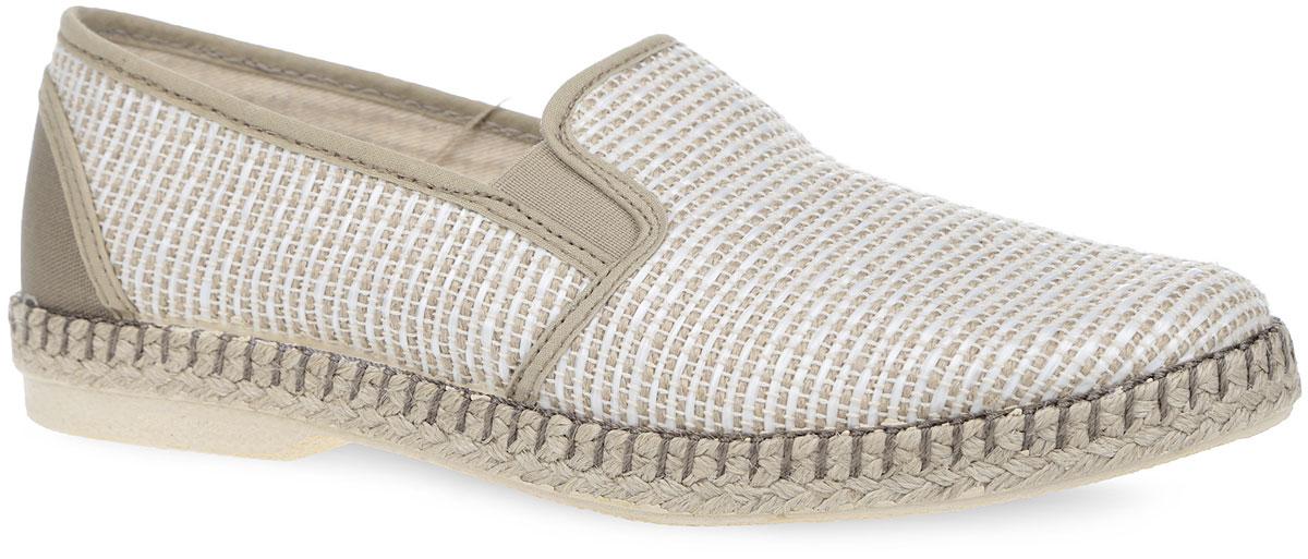 Эспадрильи мужские. EJP2_900552_BEIGEEJP2_900552_BEIGEСтильные мужские эспадрильи от El Tempo займут достойное место в вашем гардеробе. Модель выполнена из текстильного материала, оформленного оригинальным плетением, и дополнена на подъеме эластичными вставками для идеальной посадки обуви на ноге, на заднике - текстильной вставкой. Внутренняя часть и стелька, изготовленные из текстиля, обеспечат комфорт. Верхняя часть подошвы оформлена плетеной джутовой нитью. Подошва оснащена рифлением, обеспечивающим отличное сцепление с различными поверхностями. Модные эспадрильи - незаменимая вещь в гардеробе каждого мужчины.