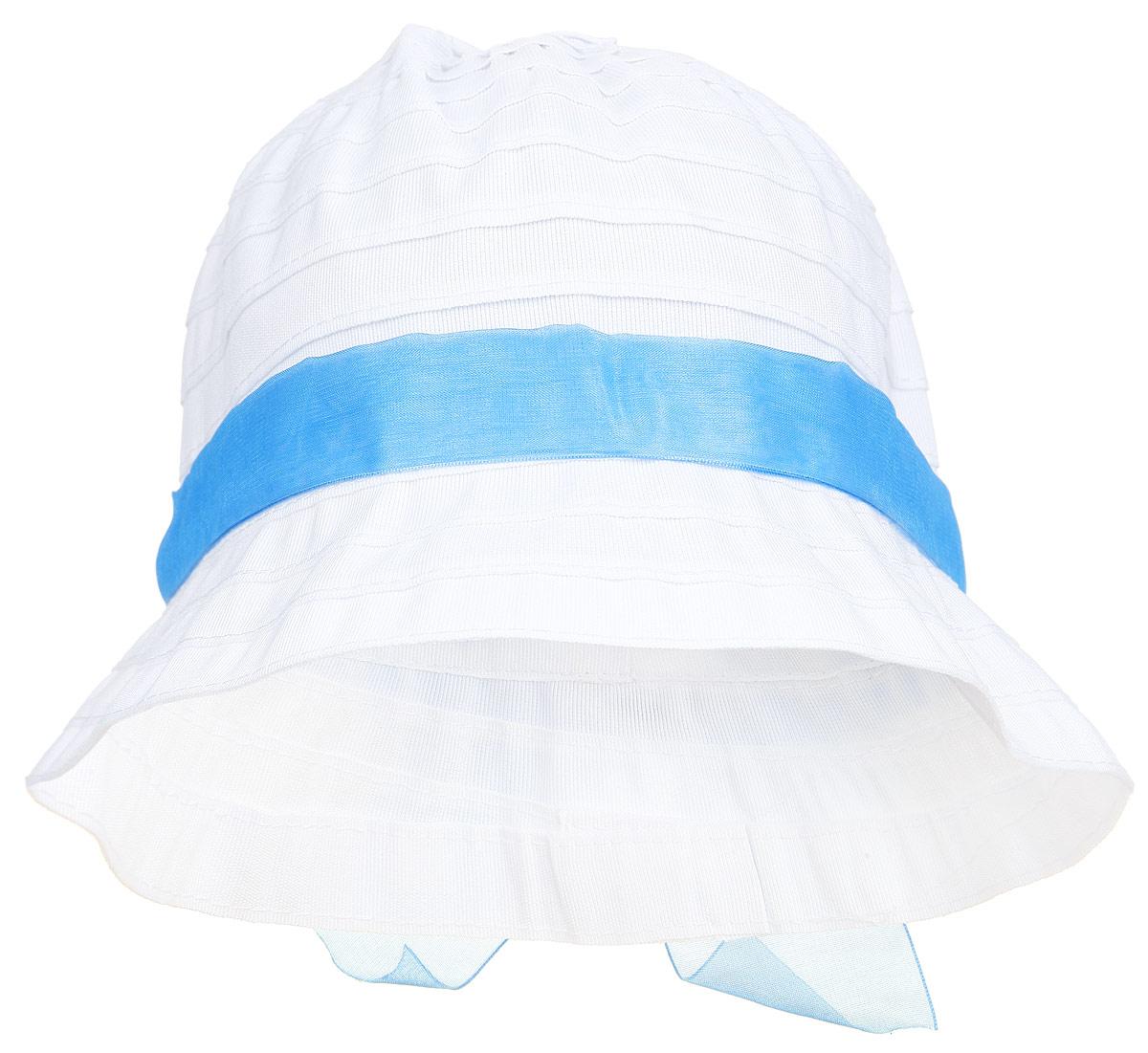Панама232027Летняя панамка для девочки PlayToday защитит голову вашей малышки от солнца и сильного ветра. Изготовленная из полиэстера, она приятная на ощупь и хорошо вентилируется. А плоские швы обеспечивают максимальный комфорт ребенку. Нежная панамка оформлена яркой ленточкой с бантиком. Уважаемые клиенты! Обращаем ваше внимание на тот факт, что размер изделия, доступный для заказа, равен обхвату головы.