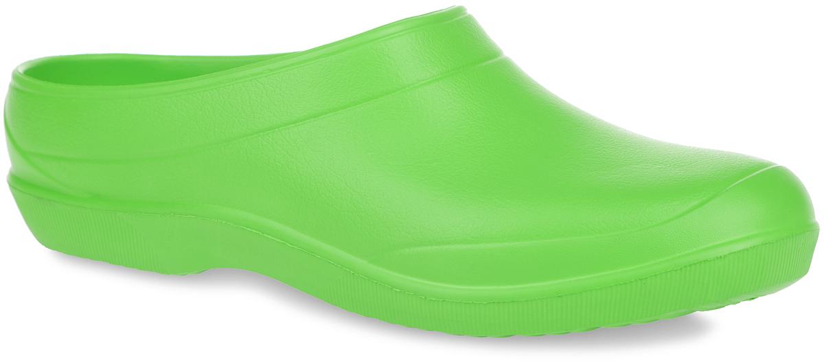604ЦОчень легкие сабо от Дюна с открытой пяткой и закрытым мыском, выполненные полностью из ЭВА материала - это превосходный вид обуви. Материал ЭВА имеет пористую структуру, обладает великолепными теплоизоляционными и морозостойкими свойствами, 100% водонепроницаемостью, придает обуви амортизационные свойства, мягкость при ходьбе, устойчивость к истиранию подошвы. Рифление на верхней поверхности подошвы предотвращает выскальзывание ноги. Рельефное основание подошвы обеспечивает уверенное сцепление с любой поверхностью. Удобные сабо прекрасно подойдут для работы в огороде, для похода в бассейн или на пляж.