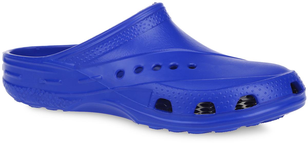 Сабо. 600600Очень легкие сабо от Дюна, выполненные полностью из ЭВА материала с отверстиями, обеспечивающими проникновение воздуха, - это превосходный вид обуви. Материал ЭВА имеет пористую структуру, обладает великолепными теплоизоляционными и морозостойкими свойствами, 100% водонепроницаемостью, придает обуви амортизационные свойства, мягкость при ходьбе, устойчивость к истиранию подошвы. Рифление на верхней поверхности подошвы предотвращает выскальзывание ноги. Рельефное основание подошвы обеспечивает уверенное сцепление с любой поверхностью. Удобные сабо прекрасно подойдут для похода в бассейн или на пляж.