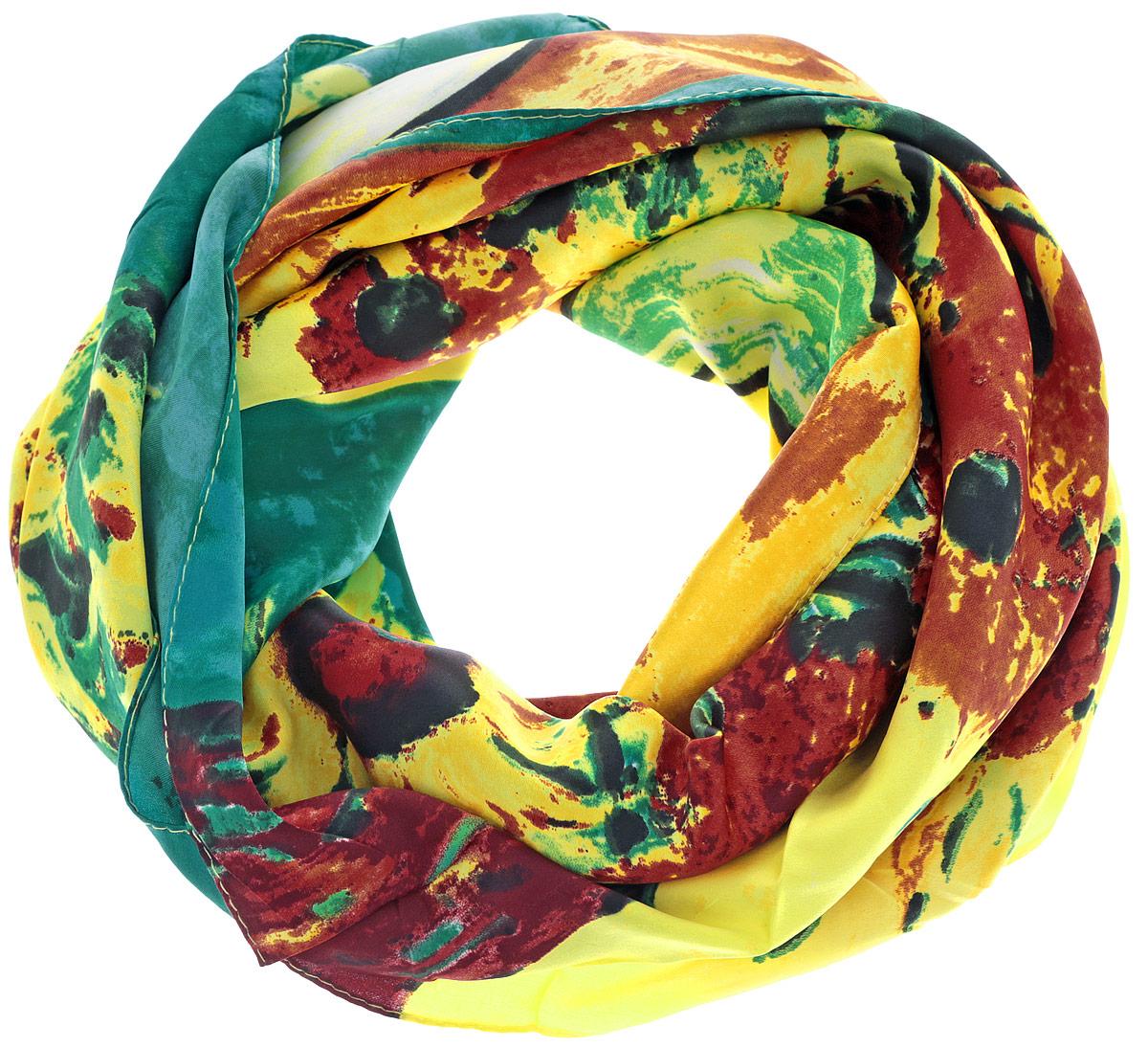 Платок женский. 0510115241_370510115241_37Стильный женский платок Sabellino станет великолепным завершением любого наряда. Платок изготовлен из полиэстера и оформлен оригинальным цветочным рисунком. Изделие прекрасно дополнит ваш гардероб и поможет создать новые и свежие образы. Женственный аксессуар для креативных и творческих девушек!