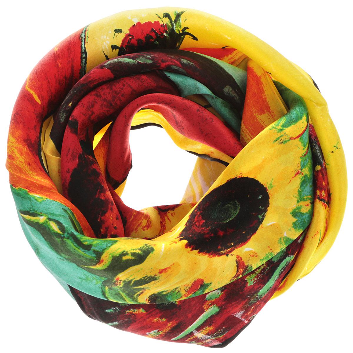 Платок женский. 60ШЛ_90х90_15127_П_3060ШЛ_90х90_15127_П_30Стильный женский платок Piero станет великолепным завершением любого наряда. Платок изготовлен из натурального шелка и оформлен оригинальным принтом в виде цветов в горшке. Классическая квадратная форма позволяет носить платок на шее, украшать им прическу или декорировать сумочку. Такой платок превосходно дополнит любой наряд и подчеркнет ваш неповторимый вкус и элегантность.
