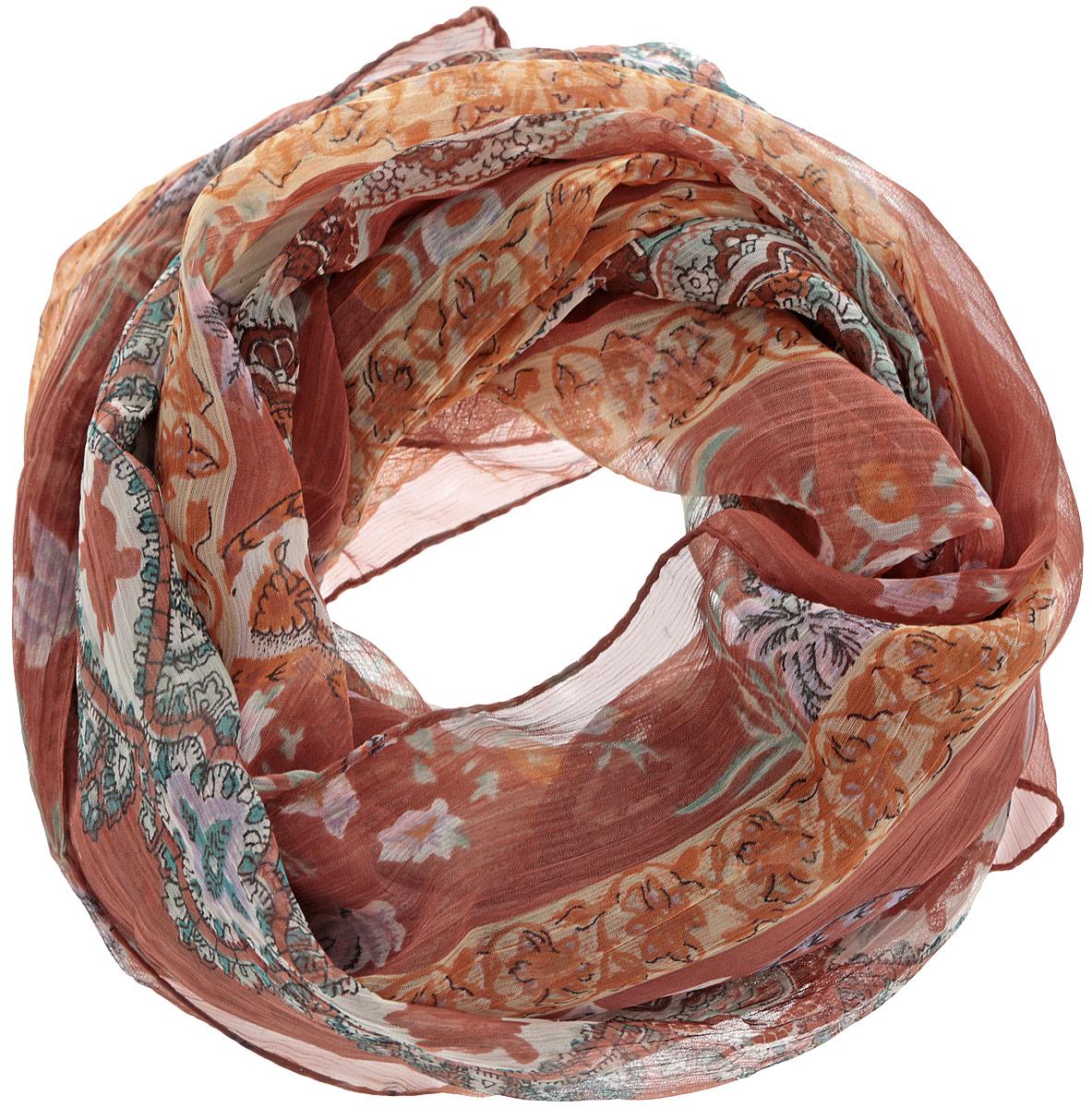 Шарф женский. 262040_орнамент262040Женский шарф Ethnica, изготовленный из 100% вискозы, подчеркнет вашу индивидуальность. Благодаря своему составу, он легкий, мягкий и приятный на ощупь. Изделие оформлено оригинальным орнаментом. Такой аксессуар станет стильным дополнением к гардеробу современной женщины.