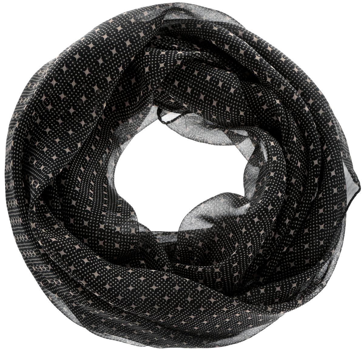 Шарф262040Женский шарф Ethnica, изготовленный из 100% вискозы, подчеркнет вашу индивидуальность. Благодаря своему составу, он легкий, мягкий и приятный на ощупь. Изделие оформлено оригинальным орнаментом. Такой аксессуар станет стильным дополнением к гардеробу современной женщины.