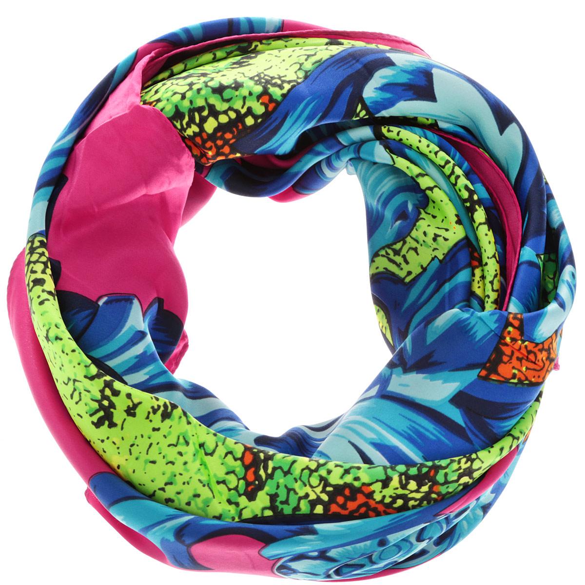 Платок женский. 0510115239_410510115239_41Стильный женский платок Sabellino станет великолепным завершением любого наряда. Платок изготовлен из 100% полиэстера и оформлен оригинальным орнаментом. Классическая квадратная форма позволяет носить платок на шее, украшать им прическу или декорировать сумочку. Такой платок превосходно дополнит любой наряд и подчеркнет ваш неповторимый вкус и элегантность.