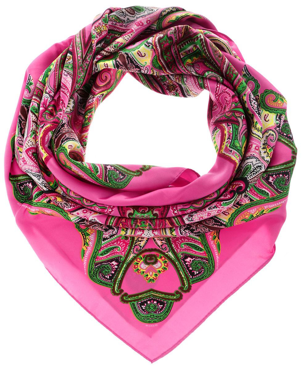 Платок70ПЛ_90х90_15065_С_48Стильный женский платок Sabellino станет великолепным завершением любого наряда. Платок изготовлен из полиэстера с добавлением шелка и оформлен оригинальным орнаментом. Классическая квадратная форма позволяет носить платок на шее, украшать им прическу или декорировать сумочку. Такой платок превосходно дополнит любой наряд и подчеркнет ваш неповторимый вкус и элегантность.