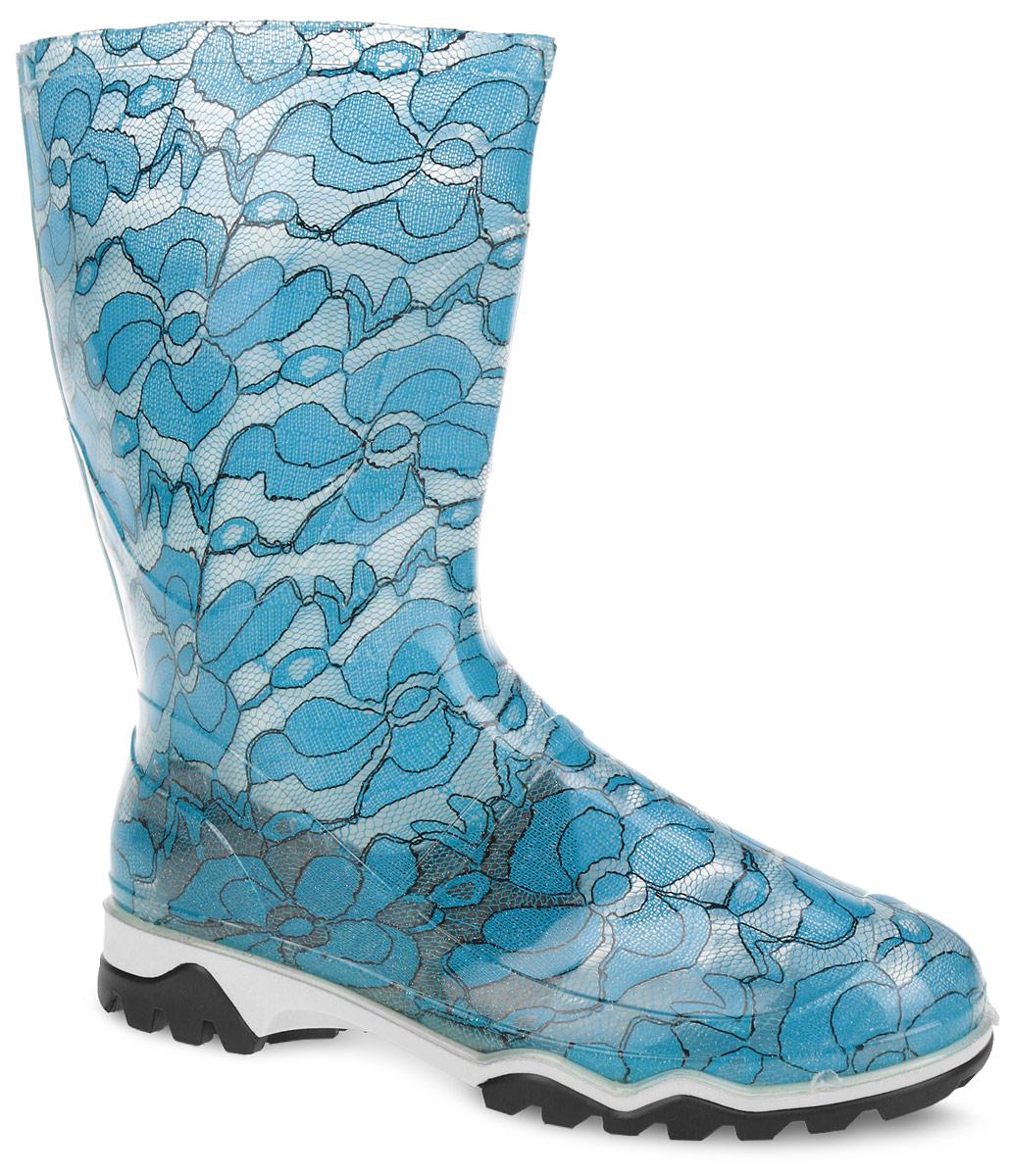 Полусапоги резиновые женские. 340/01РУ340/01РУПолусапоги от Дюна превосходно защитят ваши ноги от промокания в дождливый день. Модель полностью выполнена из ПВХ, обладающего высокой эластичностью, 100% водонепроницаемостью, амортизационными свойствами и герметичностью, и оформлена ярким оригинальным принтом. Тканевая основа внутри полусапог сохраняет форму и предотвращает деформацию голенища. Мягкий вынимающийся сапожок из искусственного меха и текстильная стелька не дадут ногам замерзнуть и обеспечат комфорт. Ширина голенища компенсирует отсутствие застежек. Верхняя часть подошвы оформлена контрастной полоской. Рельефная поверхность подошвы гарантирует отличное сцепление с любой поверхностью. Такие резиновые полусапоги поднимут вам настроение в дождливую погоду!