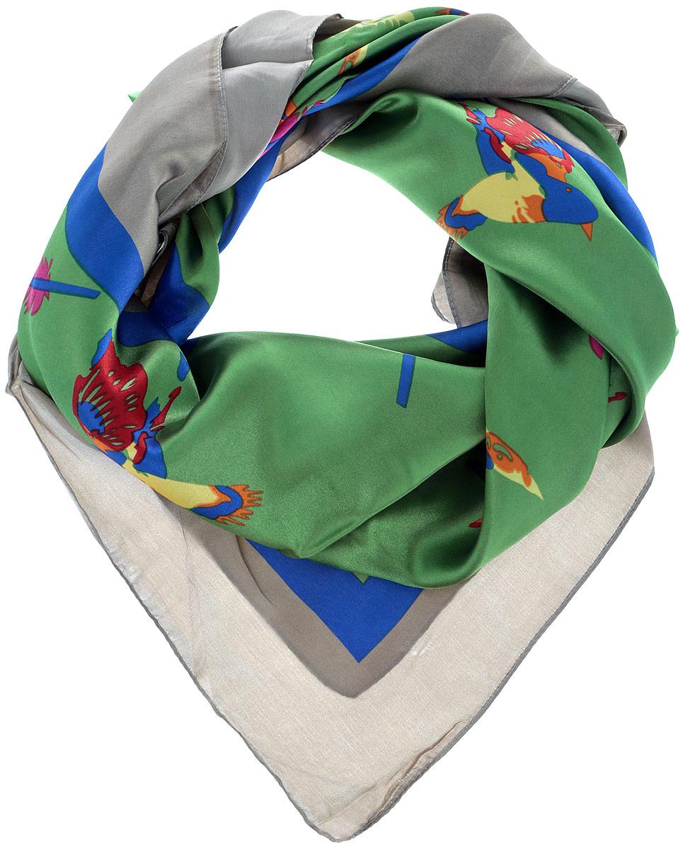 Платок68ПЛ_90х90_15059_С_54Стильный женский платок Sabellino станет великолепным завершением любого наряда. Платок изготовлен из полиэстера с добавлением шелка и оформлен оригинальным принтом в виде птиц и перьев. Классическая квадратная форма позволяет носить платок на шее, украшать им прическу или декорировать сумочку. Такой платок превосходно дополнит любой наряд и подчеркнет ваш неповторимый вкус и элегантность.