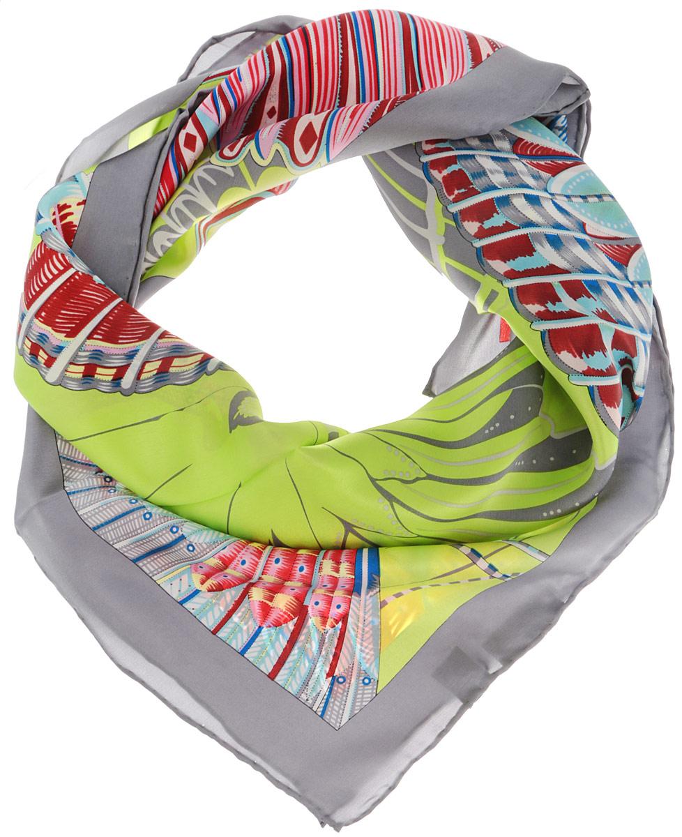 ЖПП15038_63Стильный женский платок Piero станет великолепным завершением любого наряда. Платок изготовлен из натурального шелка и оформлен оригинальным принтом в виде бабочек. Классическая квадратная форма позволяет носить платок на шее, украшать им прическу или декорировать сумочку. Такой платок превосходно дополнит любой наряд и подчеркнет ваш неповторимый вкус и элегантность.