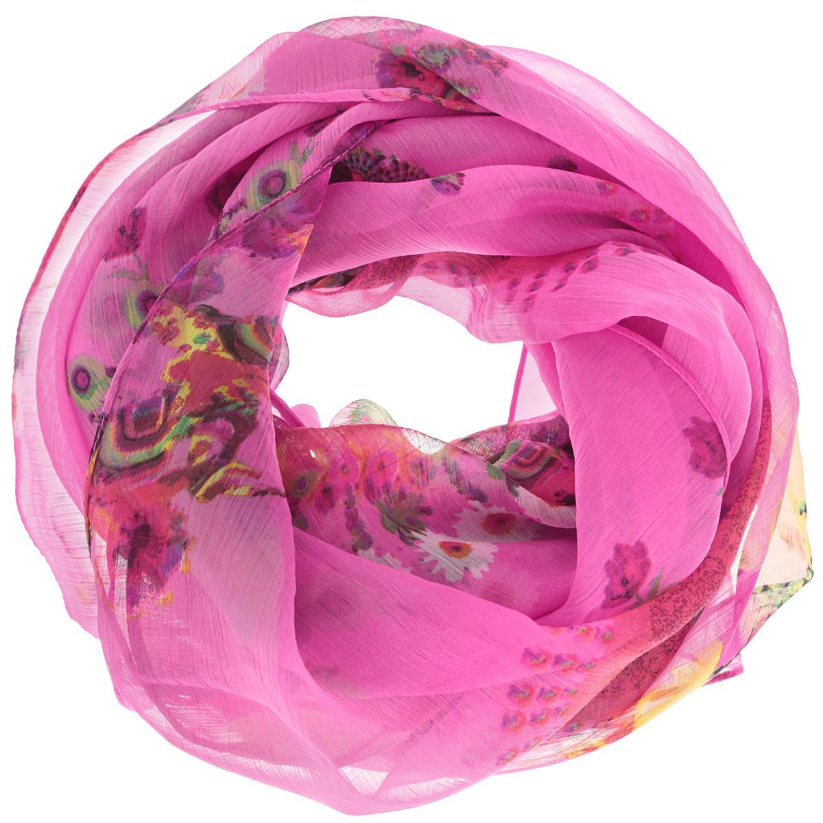 524040нСтильный женский платок Ethnica станет великолепным завершением любого наряда. Платок изготовлен из 100% вискозы и оформлен оригинальным орнаментом. Классическая квадратная форма позволяет носить платок на шее, украшать им прическу или декорировать сумочку. Такой платок превосходно дополнит любой наряд и подчеркнет ваш неповторимый вкус и элегантность.