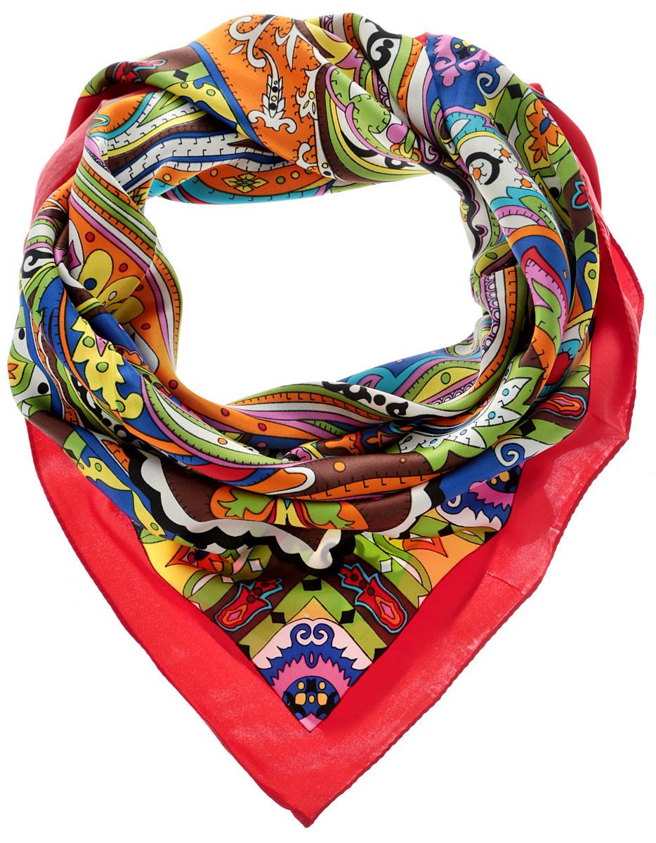 Платок женский. 05101152370510115237_37Стильный женский платок Sabellino станет великолепным завершением любого наряда. Платок изготовлен из 100% полиэстера и оформлен оригинальным орнаментом. Классическая квадратная форма позволяет носить платок на шее, украшать им прическу или декорировать сумочку. Такой платок превосходно дополнит любой наряд и подчеркнет ваш неповторимый вкус и элегантность.