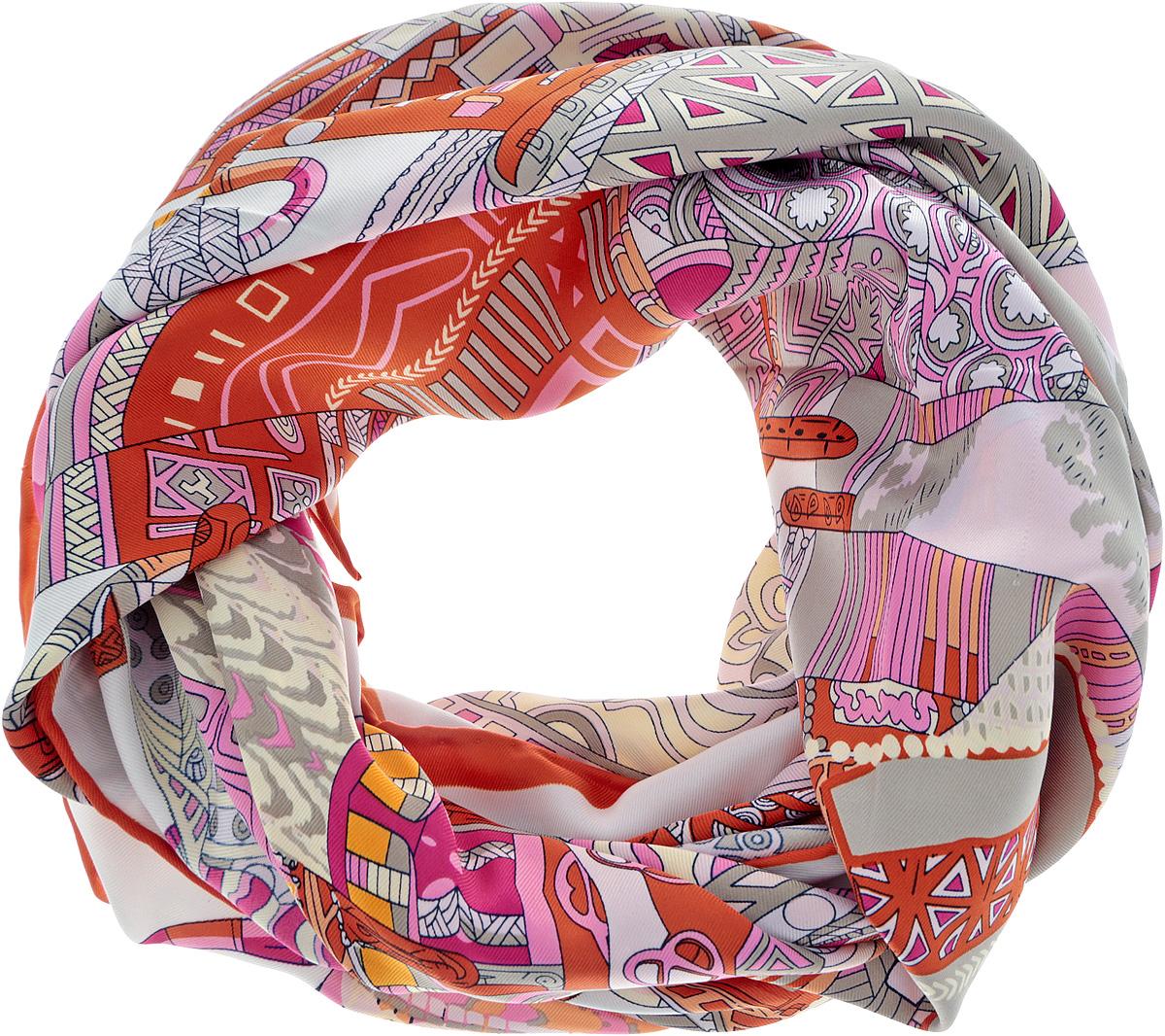 Платок женский. 72ПЛ_90х90_421_172ПЛ_90х90_421_1Стильный женский платок Sabellino станет великолепным завершением любого наряда. Платок изготовлен из полиэстера и оформлен оригинальным принтом. Классическая квадратная форма позволяет носить платок на шее, украшать им прическу или декорировать сумочку. Такой платок превосходно дополнит любой наряд и подчеркнет ваш неповторимый вкус и элегантность.