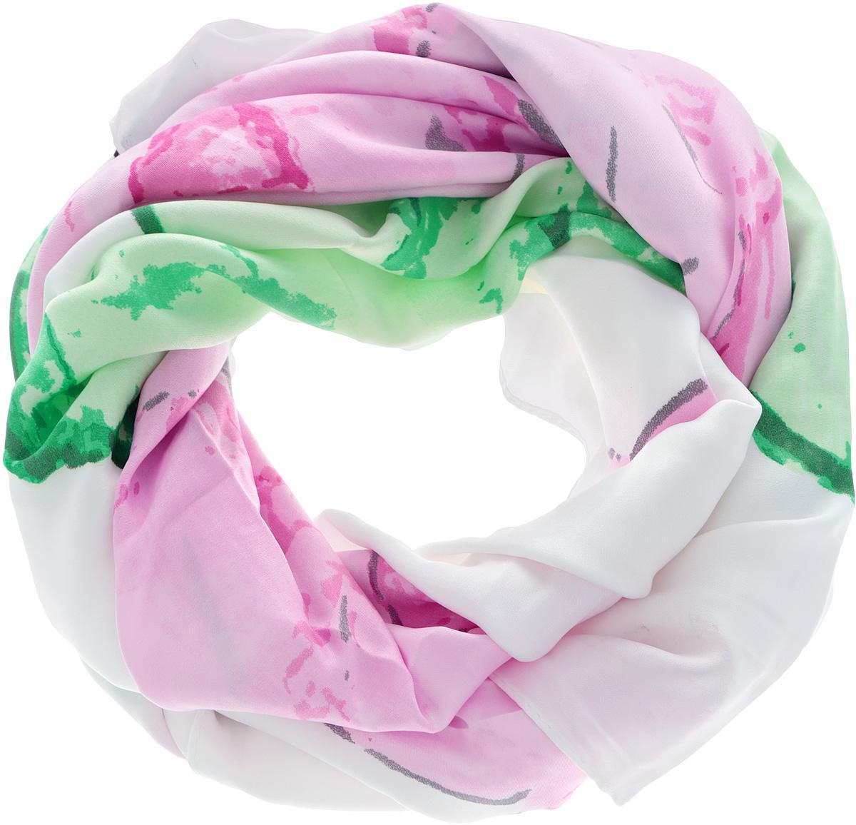 Платок женский. 0510115240_050510115240_05Стильный женский платок Sabellino станет великолепным завершением любого наряда. Платок изготовлен из полиэстера и оформлен нежным цветочным принтом. Классическая квадратная форма позволяет носить платок на шее, украшать им прическу или декорировать сумочку. Такой платок превосходно дополнит любой наряд и подчеркнет ваш неповторимый вкус и элегантность.