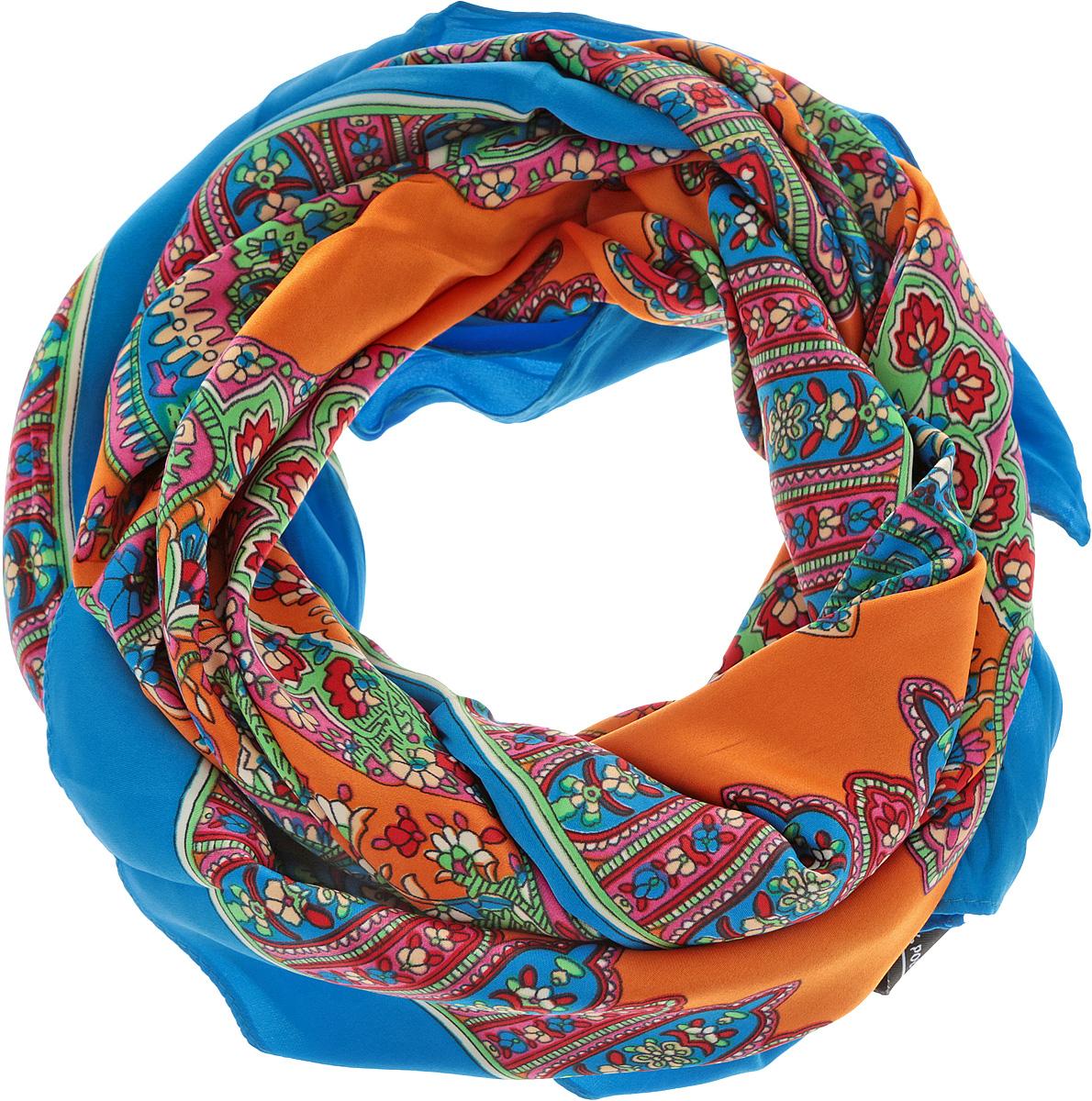 Платок женский. 0510115235_540510115235_54Стильный женский платок Sabellino станет великолепным завершением любого наряда. Платок изготовлен из полиэстера и оформлен оригинальным принтом. Классическая квадратная форма позволяет носить платок на шее, украшать им прическу или декорировать сумочку. Такой платок превосходно дополнит любой наряд и подчеркнет ваш неповторимый вкус и элегантность.