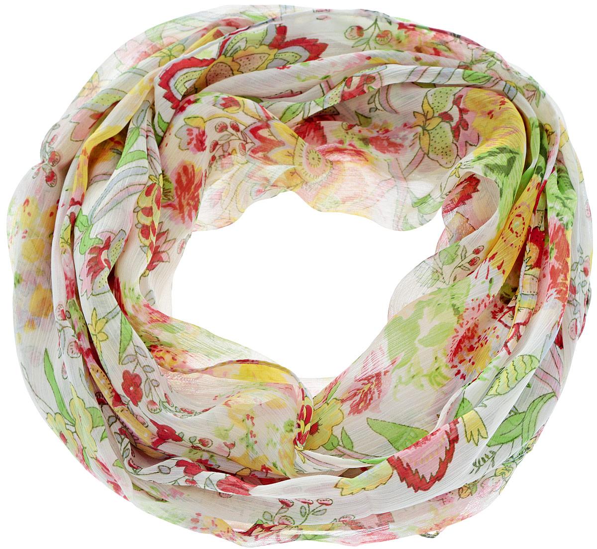 Шарф женский. 262040_цветы262040Женский шарф Ethnica, изготовленный из 100% вискозы, подчеркнет вашу индивидуальность. Благодаря своему составу, он легкий, мягкий и приятный на ощупь. Изделие оформлено оригинальным цветочным принтом. Такой аксессуар станет стильным дополнением к гардеробу современной женщины.