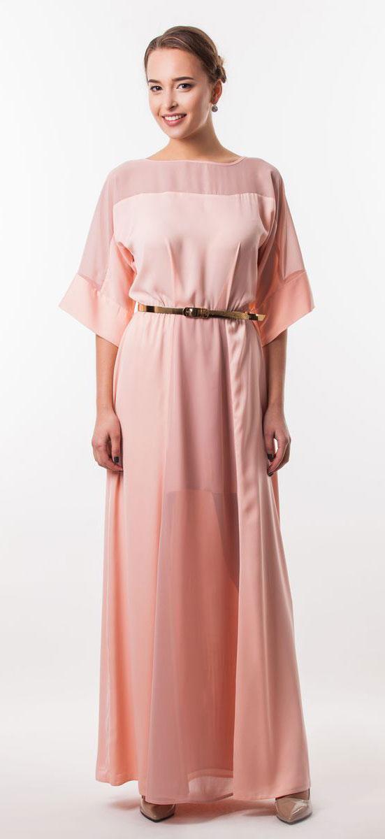 Платье4530_102Очаровательное вечернее платье Seam, выполненное из высококачественного полиэстера, оно отлично сидит по фигуре и подчеркнет ваши достоинства. Платье-макси с цельнокроеными рукавами 1/2 и круглым вырезом горловины не имеет застежек. Верх и перед модели дополнены вставками из прозрачной ткани. В поясе модель дополнена эластичной резинкой и декоративным контрастным ремешком.