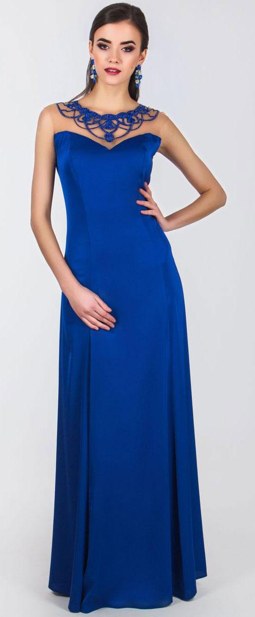 Платье4460_706Очаровательное платье Seam выполнено из полиэстера с добавлением спандекса, оно отлично сидит по фигуре и подчеркнет ваши достоинства. Платье-макси без рукавов имеет застежки-крючки и потайную молнию на спинке. Верх модели выполнен из сетчатой ткани и оформлен элегантной аппликацией с вышивкой из бусин, бисера и ткани.