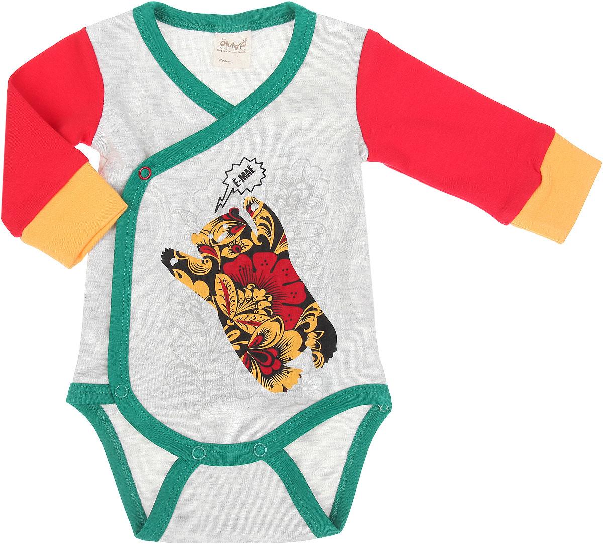 Боди-кимоно детское. 24-24724-247Яркое детское боди-кимоно Ёмаё станет идеальным дополнением к гардеробу вашего ребенка. Изделие изготовлено из натурального хлопка, мягкое и приятное на ощупь, не сковывает движений, позволяет коже дышать. Боди с V-образным вырезом горловины и длинными рукавами оформлено принтом с изображением медведя и цветочных узоров. Удобные застежки-кнопки по принципу кимоно и застежки-кнопки на ластовице помогают легко переодеть малютку и сменить подгузник. На рукавах предусмотрены мягкие манжеты. Боди полностью соответствует особенностям жизни ребенка в ранний период, не стесняя и не ограничивая его в движениях. В нем кроха будет чувствовать себя комфортно, уютно и всегда будет в центре внимания!