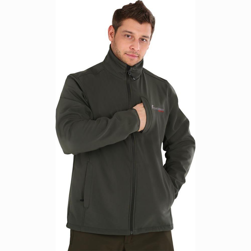 Куртка рыболовная46053-531Куртка для рыбалки из материала Softshell с мембраной 50000х50000. Центральная застежка на молнии с внутренней планкой. Воротник-стойка. На куртке выполнены декоративные рельефные швы. 3 прорезных кармана на молниях. Рукав прямой, втачной с декоративными швами. Низ куртки регулируется по объему эластичным шнуром.