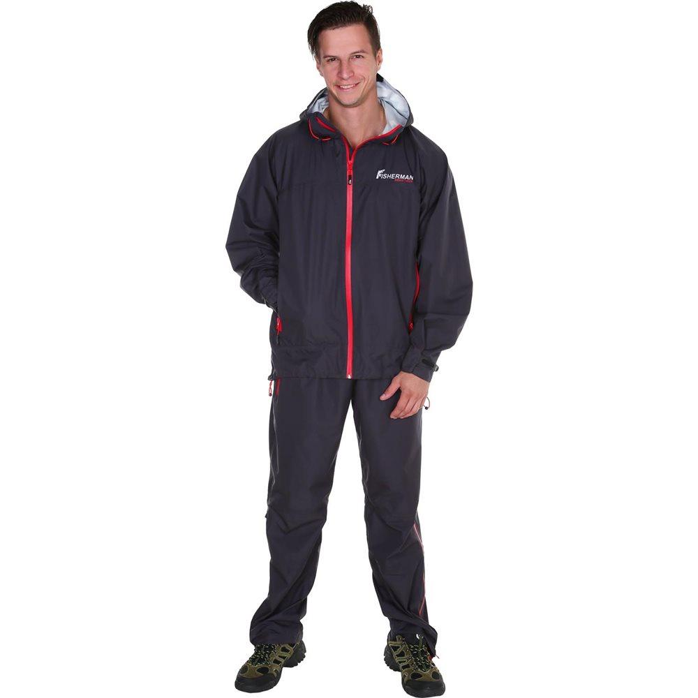 Костюм рыболовный95426-924Костюм стал еще легче, обеспечивает надежную защиту от дождя, а благодаря мембране 10000/10000 отлично отводит влагу от тела. У костюма все швы проклеены, есть удобные карманы для рук. Упаковка в специальный чехол позволяет взять костюм с собой на рыбалку в любое время! Незаменимый помощник для любого рыболова, в любой ливень!