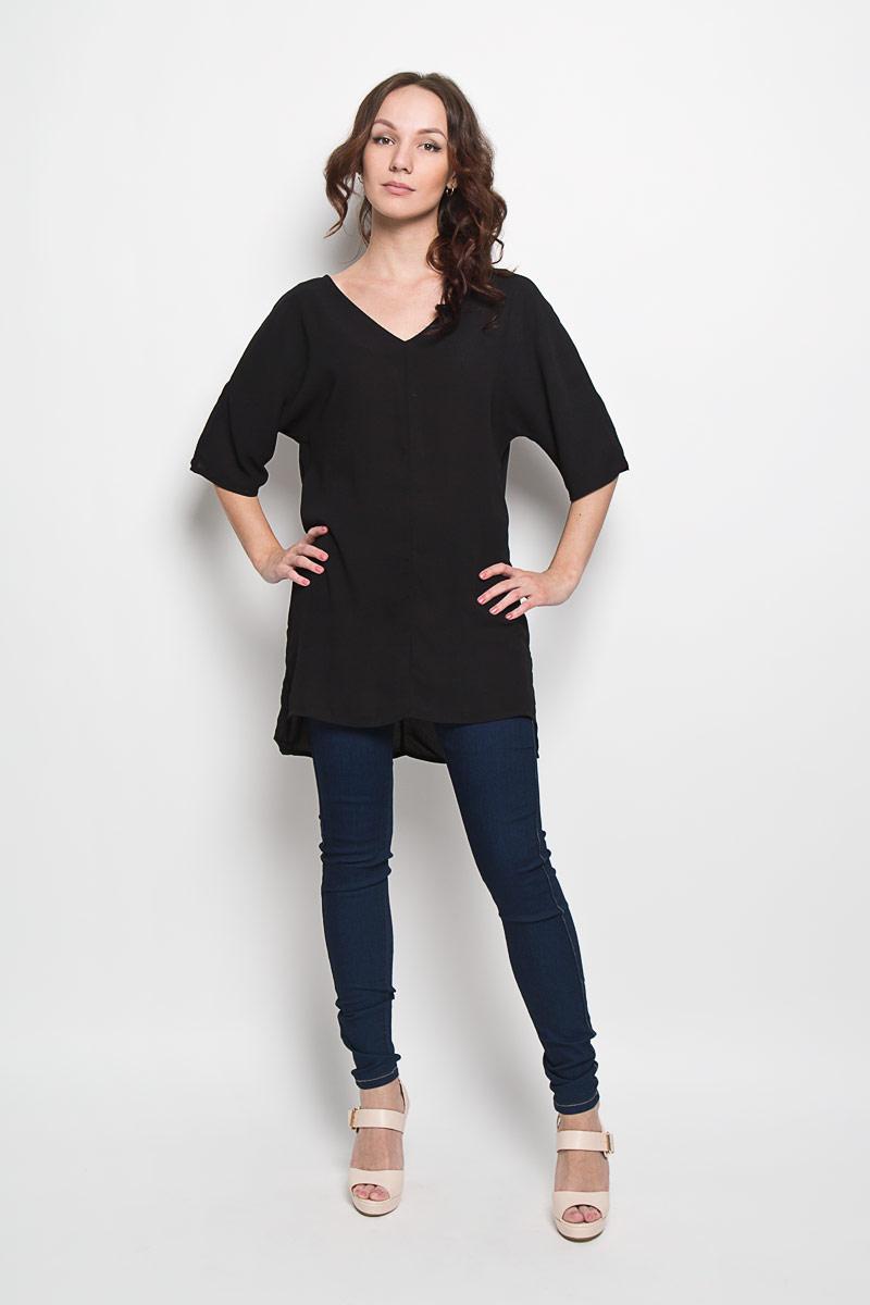 БлузкаAC0295Стильная женская блузка Glamorous, выполненная из 100% полиэстера, подчеркнет ваш уникальный стиль и поможет создать женственный образ. Модель c V-образным вырезом горловины и рукавами летучая мышь. Спинка модели немного удлинена. В боковых швах обработаны небольшие разрезы. Такая блузка будет дарить вам комфорт в течение всего дня и послужит замечательным дополнением к вашему гардеробу.