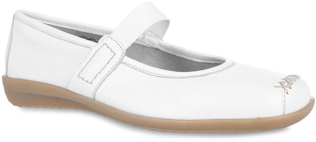 Туфли женские. 9-9-24665-26-1009-9-24665-26-100Невероятно удобные женские туфли от Caprice придутся вам душе. Модель выполнена из натуральной кожи и оформлена на мыске крестообразной прострочкой. Эластичный ремешок в области подъема обеспечит надежную фиксацию обуви на ноге. Кожаная внутренняя часть предотвратит натирание. Воздушная стелька OnAir с перфорацией, изготовленная из натуральной кожи, регулирует воздухообмен и гарантирует снижение давления на стопу. Подошва с рифлением обеспечивает идеальное сцепление с любой поверхностью. Такие туфли - отличный вариант на каждый день.