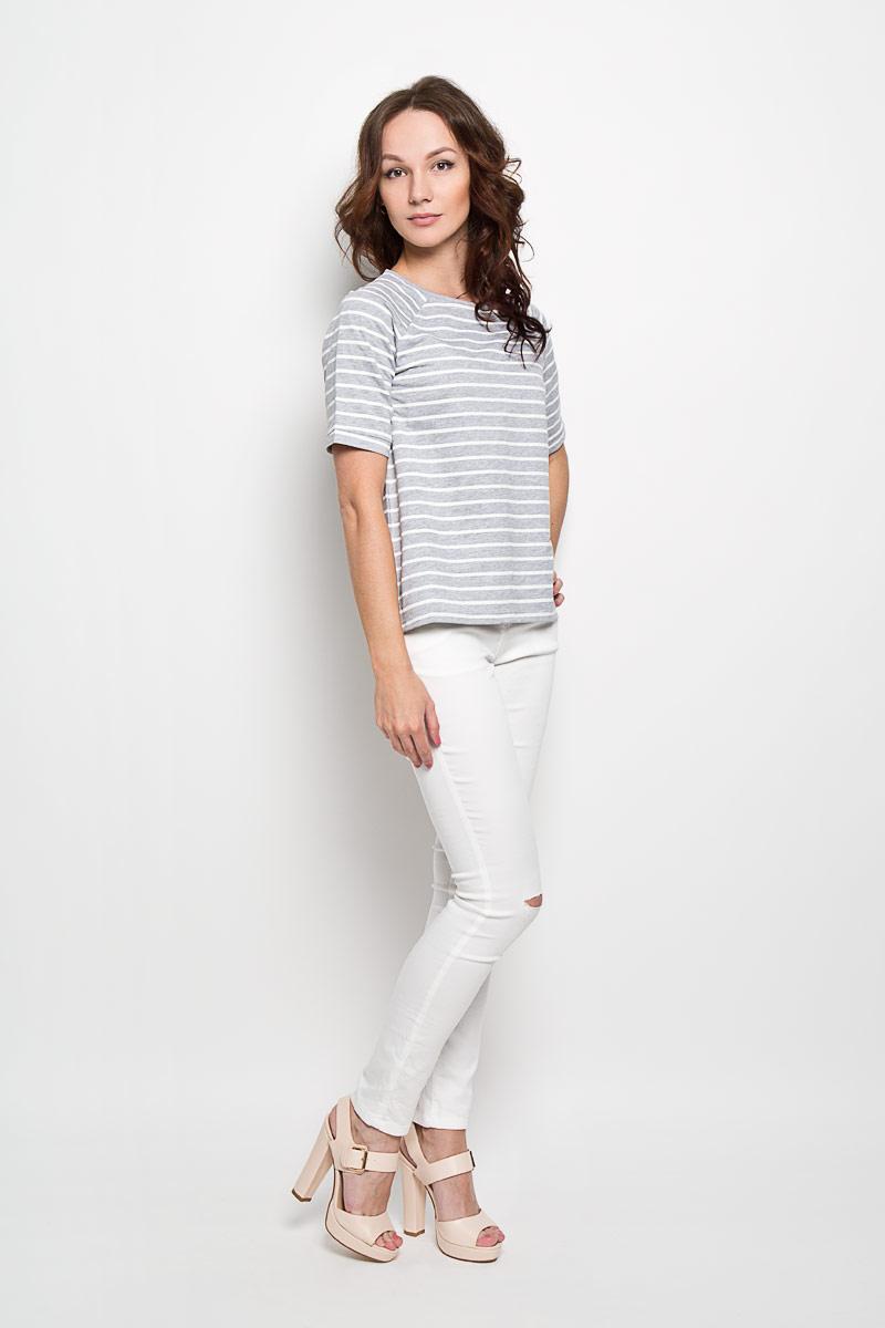 Футболка10156207 001Женская футболка Broadway Dalia, выполненная из натурального хлопка, поможет создать отличный современный образ в стиле Casual. Футболка с круглым вырезом горловины и короткими рукавами-реглан. Модель оформлена принтом в полоску. Такая футболка станет стильным дополнением к вашему гардеробу, она подарит вам комфорт в течение всего дня!