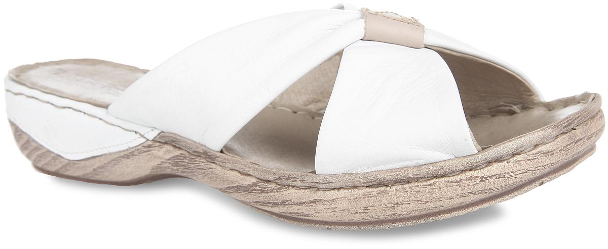 Сабо женские. 1-1-27222-24-1421-1-27222-24-142Женские сабо от Tamaris прекрасно подходят для повседневной носки и активного отдыха. Верх модели выполнен в виде двух перекрещенных полосок из натуральной кожи, которые позволяют фиксировать обувь на ноге. Подкладка и стелька, изготовленные из натуральной кожи, предотвратят натирание и обеспечат уют. Боковая сторона подошвы стилизована под дерево и дополнена в задней части вставкой из кожи. Рифление на подошве обеспечивает отличное сцепление с любой поверхностью. Такие сабо придутся вам по душе.