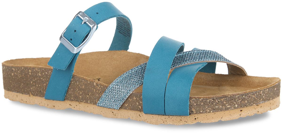 1-1-27110-26-796Удобные сандалии от Tamaris займут достойное место в вашем летнем гардеробе. Модель выполнена из искусственной кожи и оформлена на одном из передних ремешков блестящими нитями. Ремешок с металлической пряжкой в области подъема надежно зафиксирует обувь на ноге. Подкладка, изготовленная из искусственной кожи, комфортна при движении. Стелька из натуральной кожи гарантирует уют. Верхняя часть подошвы стилизована под пробку. Рифление на подошве обеспечивает отличное сцепление с любой поверхностью. Модные и практичные сандалии - необходимая вещь в гардеробе каждой женщины.