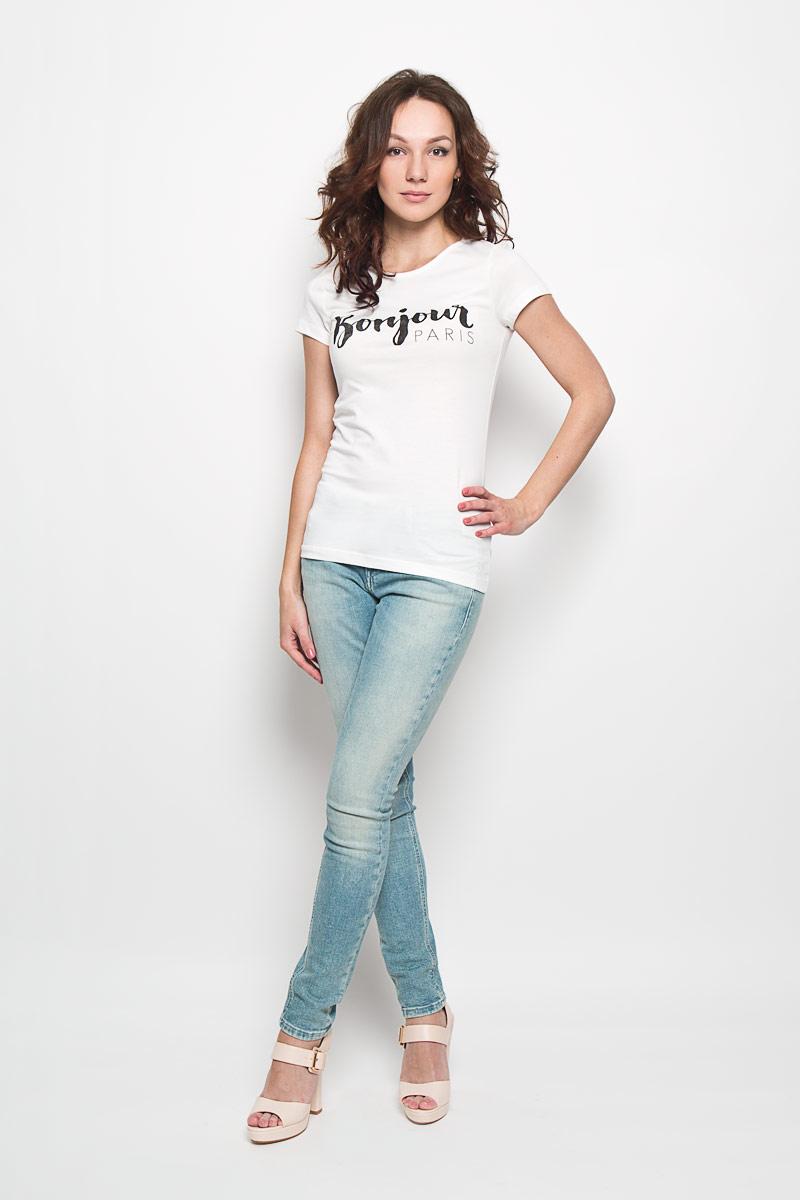 Футболка1033936.01.71Стильная женская футболка Tom Tailor Denim, выполненная из натурального хлопка, будет отлично на вас смотреться. Модель приталенного кроя с круглым вырезом горловины и короткими рукавами спереди оформлена принтовой надписью Bonjour Paris. Идеальный вариант для тех, кто ценит комфорт и качество.