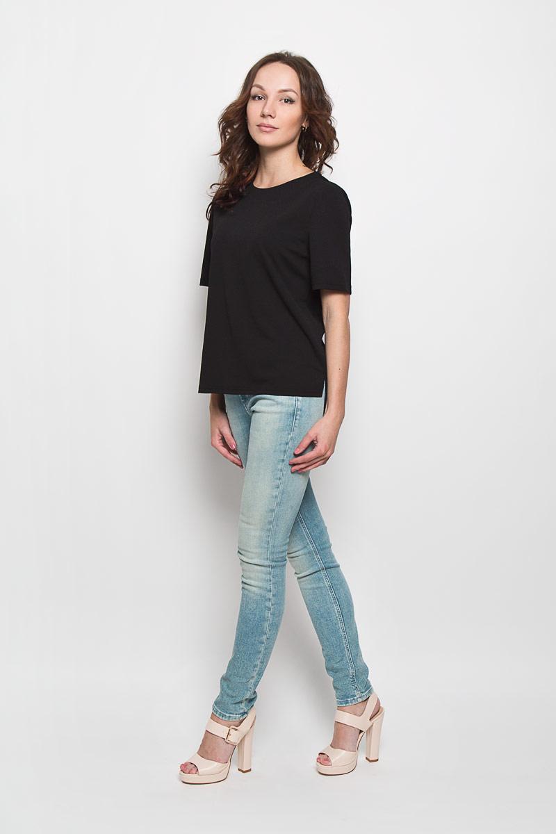 CK2519Стильная женская блузка Glamorous, выполненная из полиэстера с добавлением эластана, подчеркнет ваш уникальный стиль и поможет создать женственный образ. Модель c круглым вырезом горловины и короткими рукавами. Сзади блуза застегивается на застежку-молнию. Спинка модели немного удлинена. В боковых швах обработаны небольшие разрезы. Такая блузка будет дарить вам комфорт в течение всего дня и послужит замечательным дополнением к вашему гардеробу.