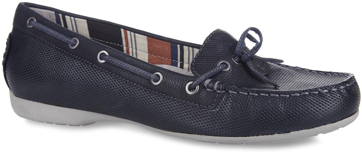 Мокасины женские. 1-1-24607-26-8051-1-24607-26-805Ультрамодные женские мокасины от Tamaris покорят вас своим дизайном и удобством! Такая обувь подходит для повседневной носки и активного отдыха. Модель выполнена из натуральной кожи разной фактуры и оформлена по верху оригинальным тиснением, декоративными внешними швами на мысе и на заднике. Шнурки, пропущенные через металлические люверсы вдоль боковых сторон, спереди завязываются в бант. Область подъема украшена декоративным металлическим элементом круглой формы с символикой бренда. Подкладка, изготовленная из комбинации текстиля и натуральной кожи, предотвратит натирание. Мягкая съемная стелька из ЭВА с верхним покрытием из натуральной кожи в кратчайшее время принимает формы стопы и обеспечивает оптимальный комфорт. Рифление на подошве обеспечивает отличное сцепление с любой поверхностью. Стильные мокасины прекрасно дополнят ваш модный образ и подчеркнут безупречный вкус!